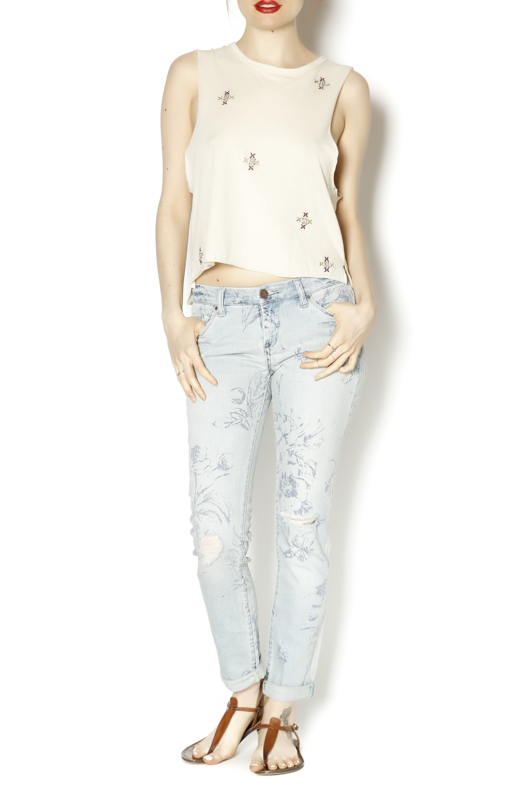 Blank NYC Cigarette Leg Jeans - Front Full Image