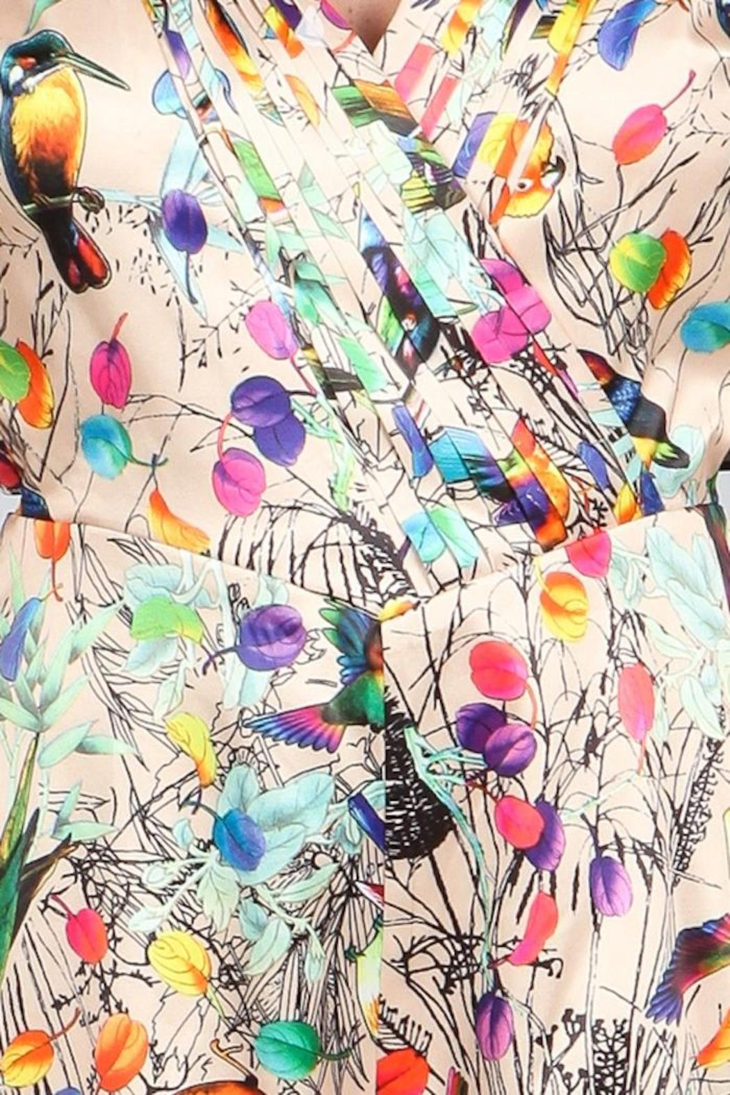 A79 Print Pleated Romper - Side Cropped Image