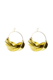 Zia Fulani Gold Earrings - Front cropped