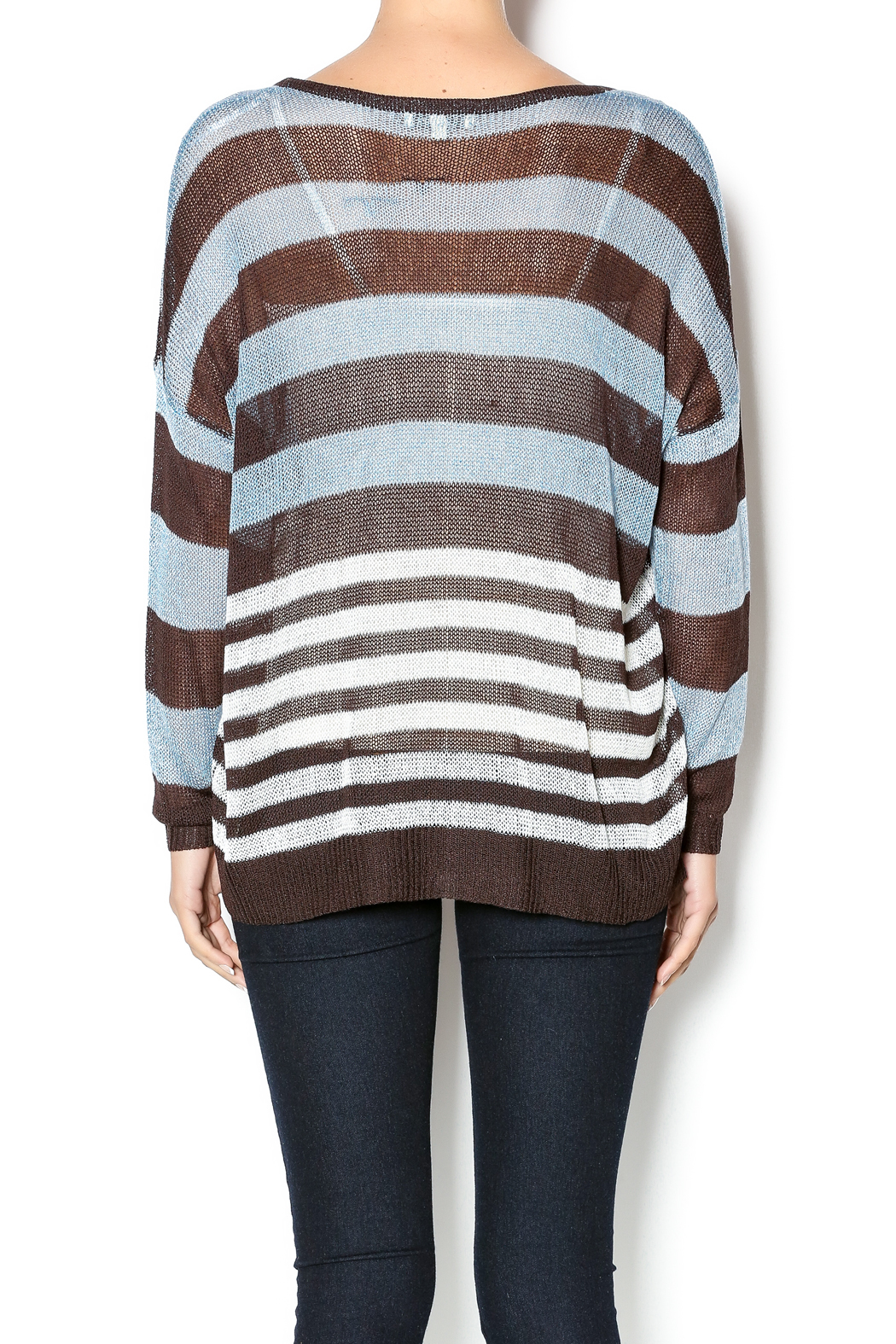 Cecico Blue Brown Sweater from Michigan by Trends & Traditions ...