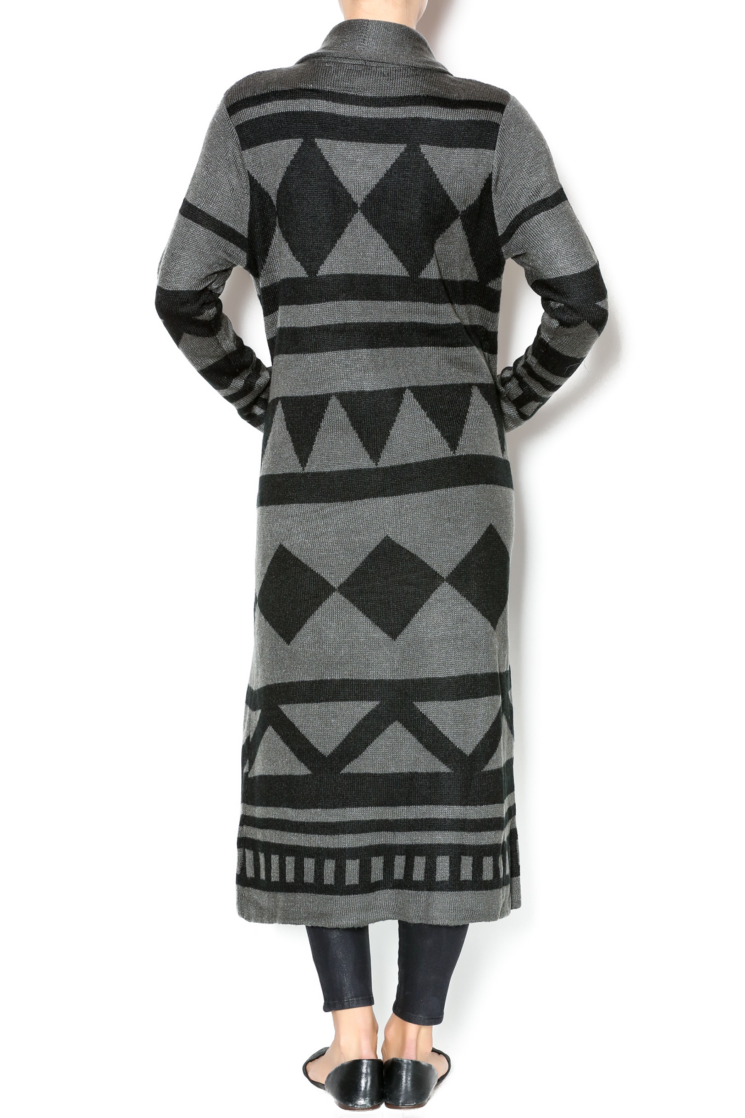 0b471aee074 Cecico Geometric Long Cardigan from Philadelphia by El Quetzal ...