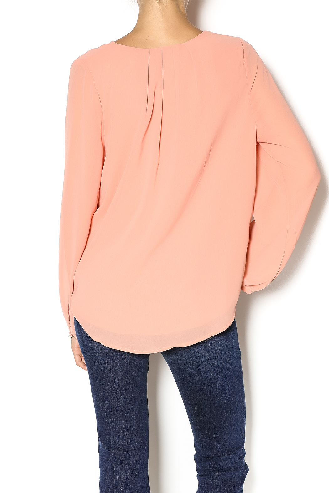 Cecico Ginger Crossover Blouse - Back Cropped Image
