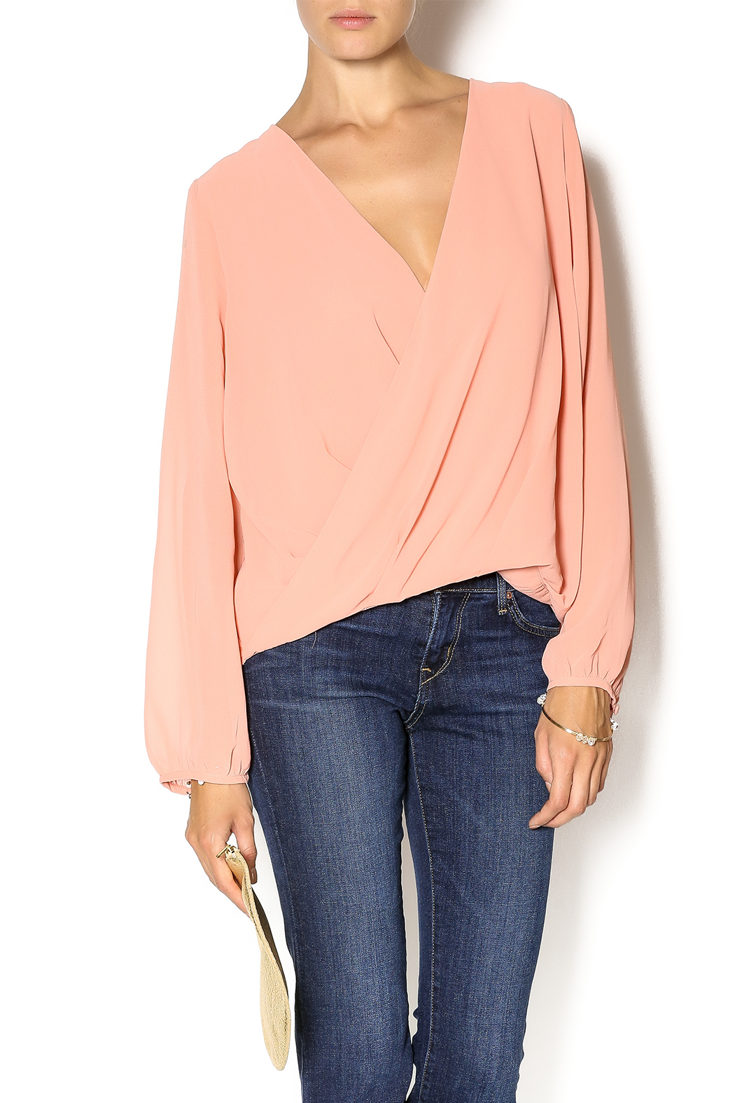 Cecico Ginger Crossover Blouse - Main Image