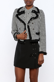 Cecico Houndstooth Jacket - Front cropped