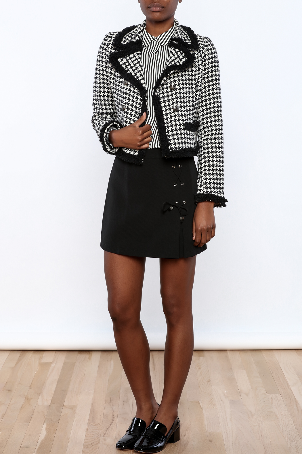 Cecico Houndstooth Jacket - Front Full Image