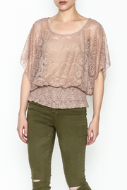 Cecico Lace Smocked Top - Product Mini Image