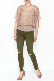Cecico Lace Smocked Top - Side cropped