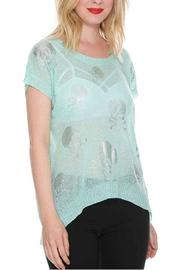 Cecico Skulls Mint Top - Front cropped