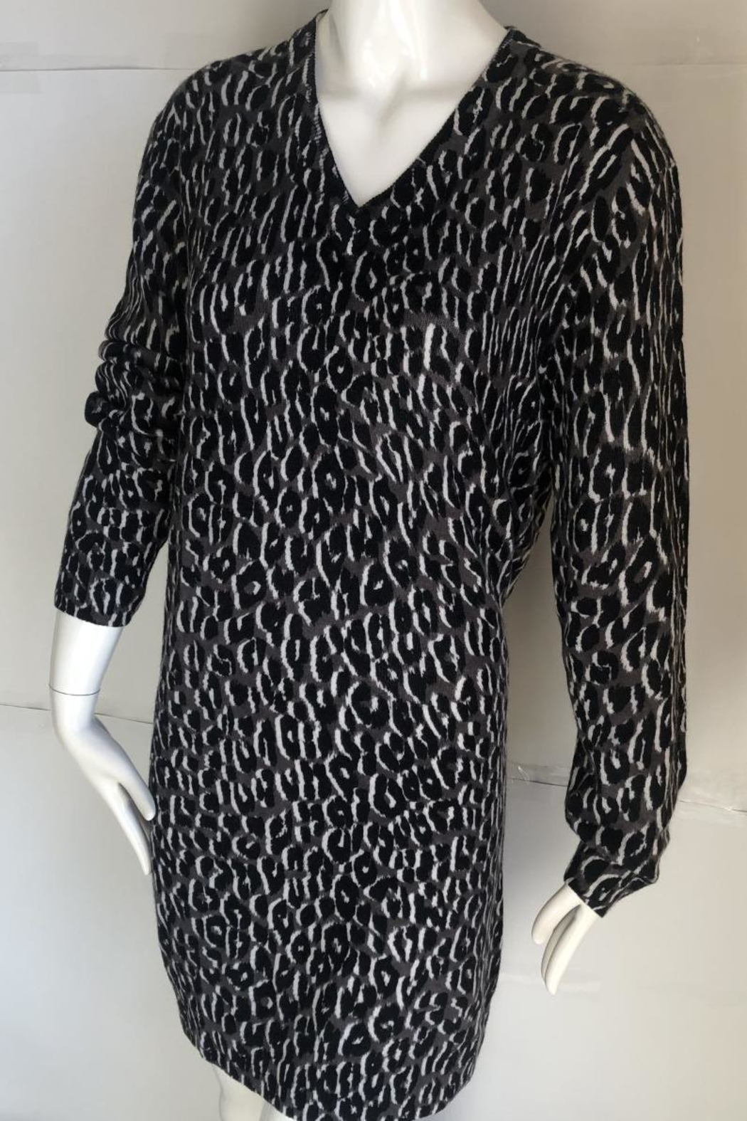 Equipment Cecile Leopard-Print Sweater-Dress - Main Image