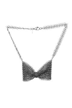 Cecilia's Steel Stainless Bowtie Necklace - Product List Image