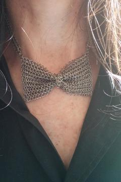 Cecilia's Steel Stainless Bowtie Necklace - Alternate List Image
