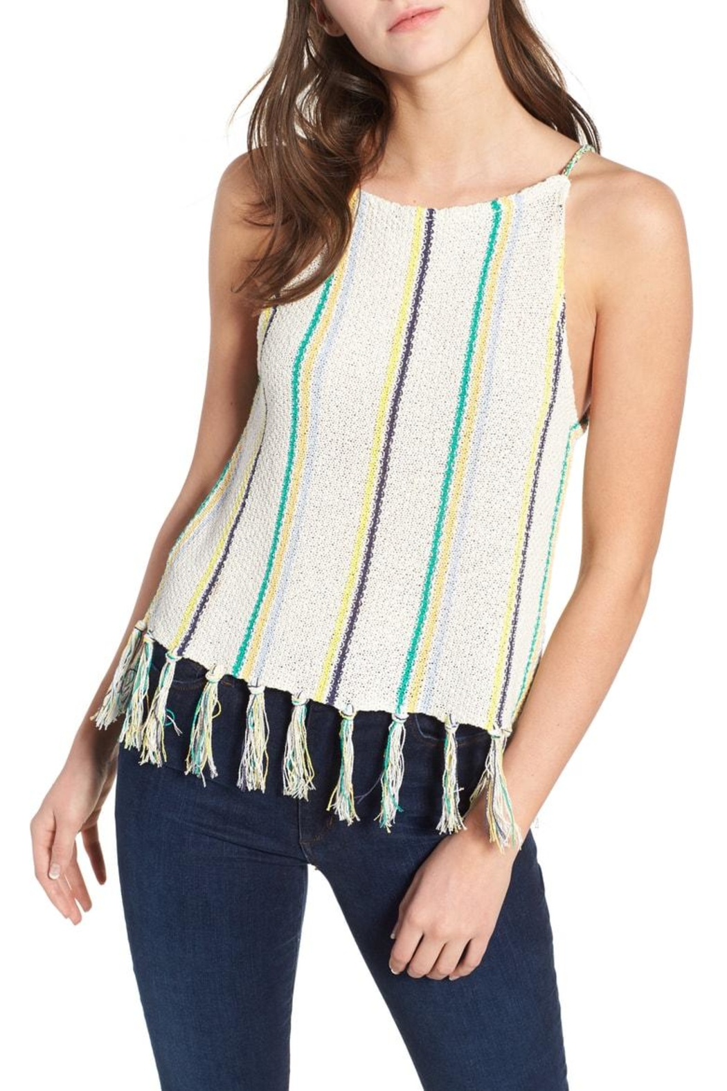 Cupcakes and Cashmere Cecille Stripe Tank - Main Image