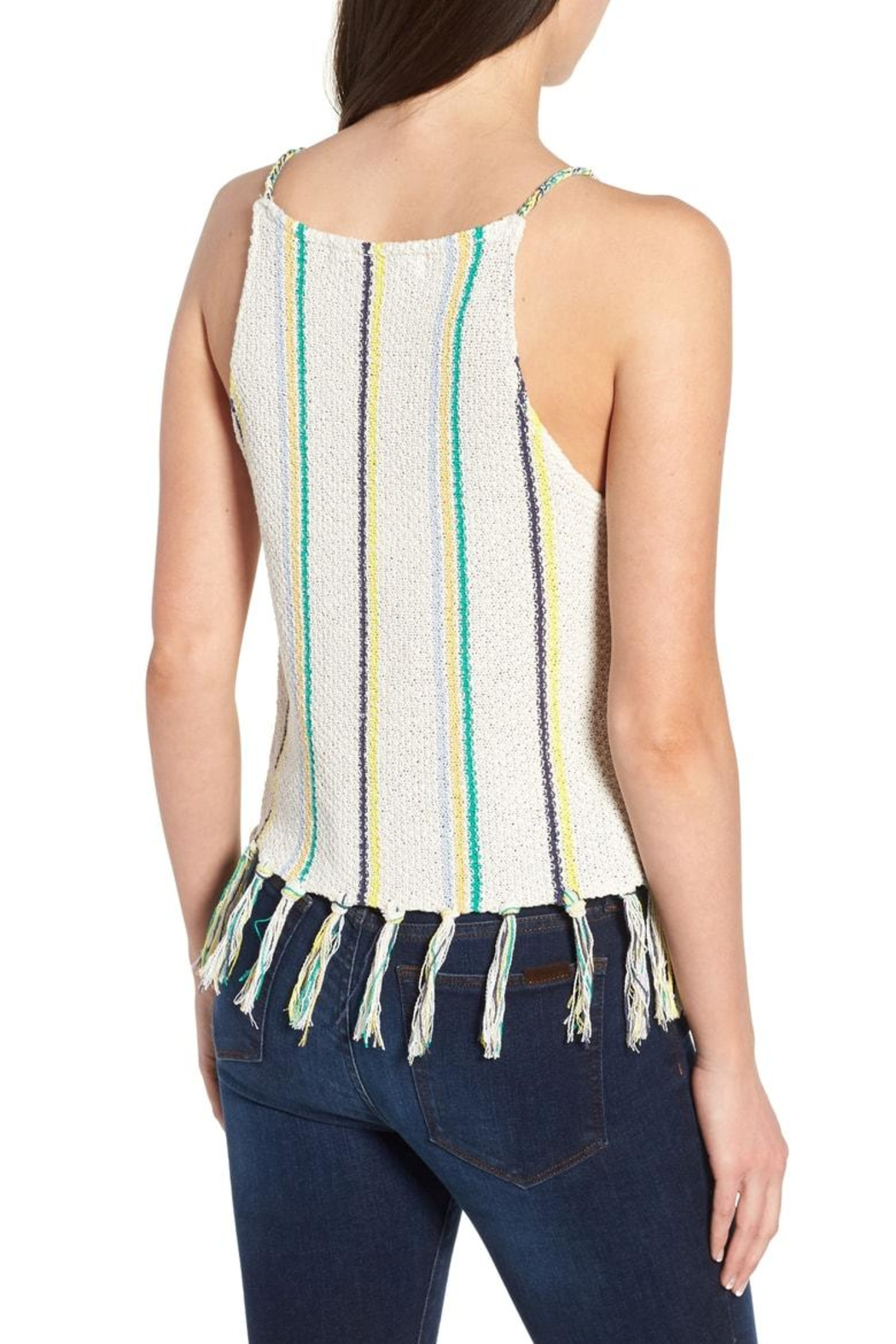 Cupcakes and Cashmere Cecille Stripe Tank - Front Full Image