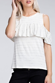 Honey Punch Cecillia Ruffle Top - Product Mini Image