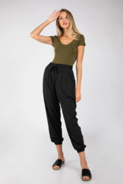 Naked Zebra Cecily Pleated Joggers - Product Mini Image