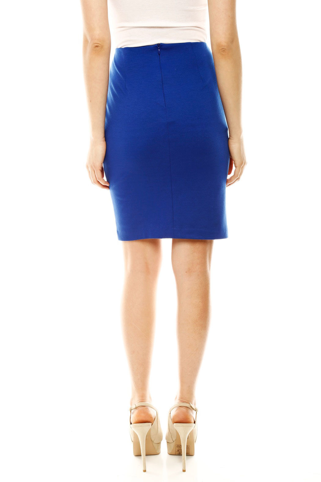 DANIELA CORTE Knit Pencil Skirt - Back Cropped Image