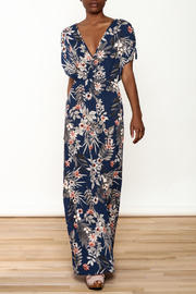 Cefian Navy Floral Maxi Dress - Product Mini Image
