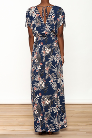 Shoptiques Product: Navy Floral Maxi Dress - Back cropped