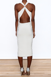 Cefian Halter Neck Dress - Back cropped