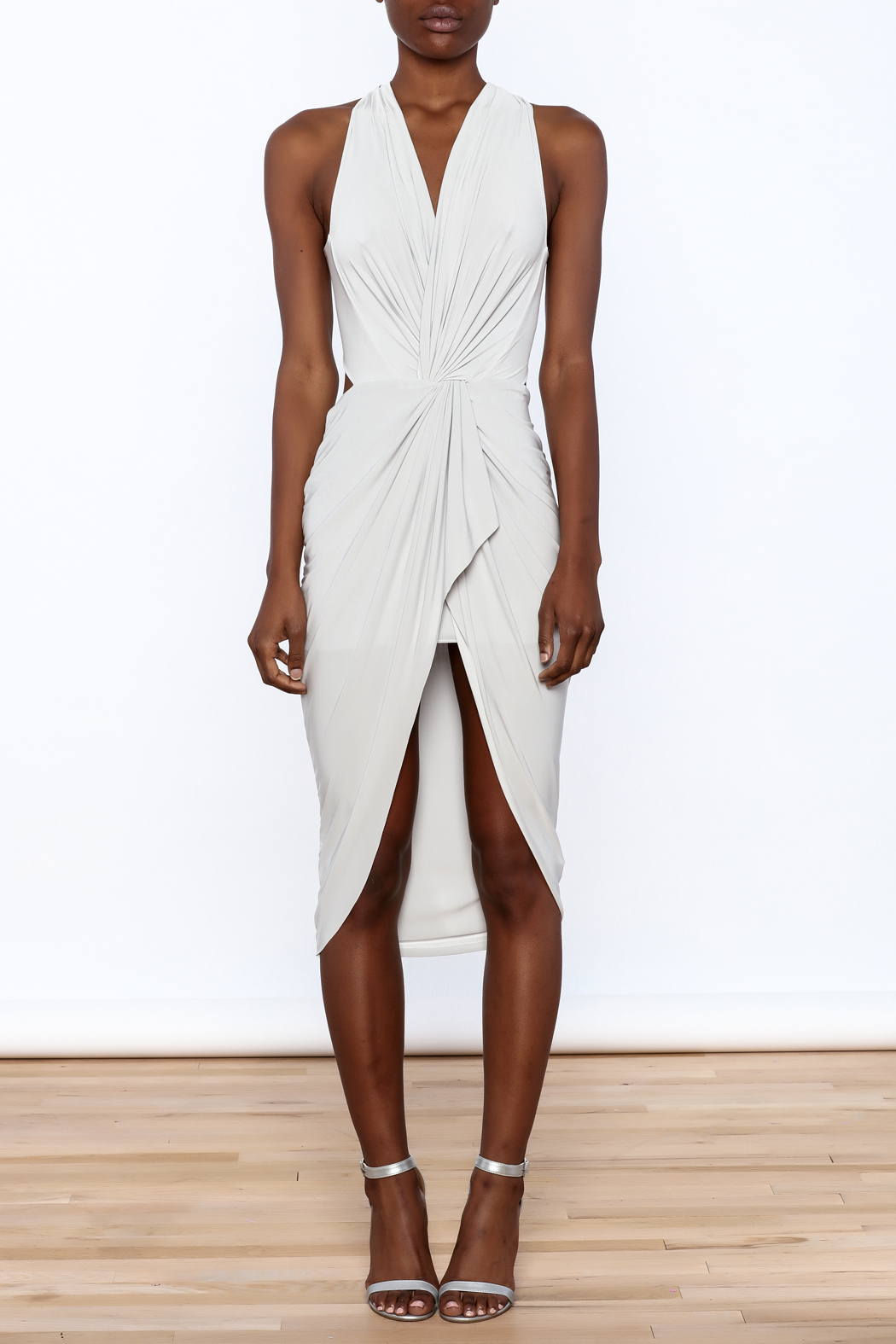 Cefian Halter Neck Dress - Front Cropped Image