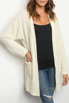 Shoptiques Product: Ivory Open-Front Cardigan