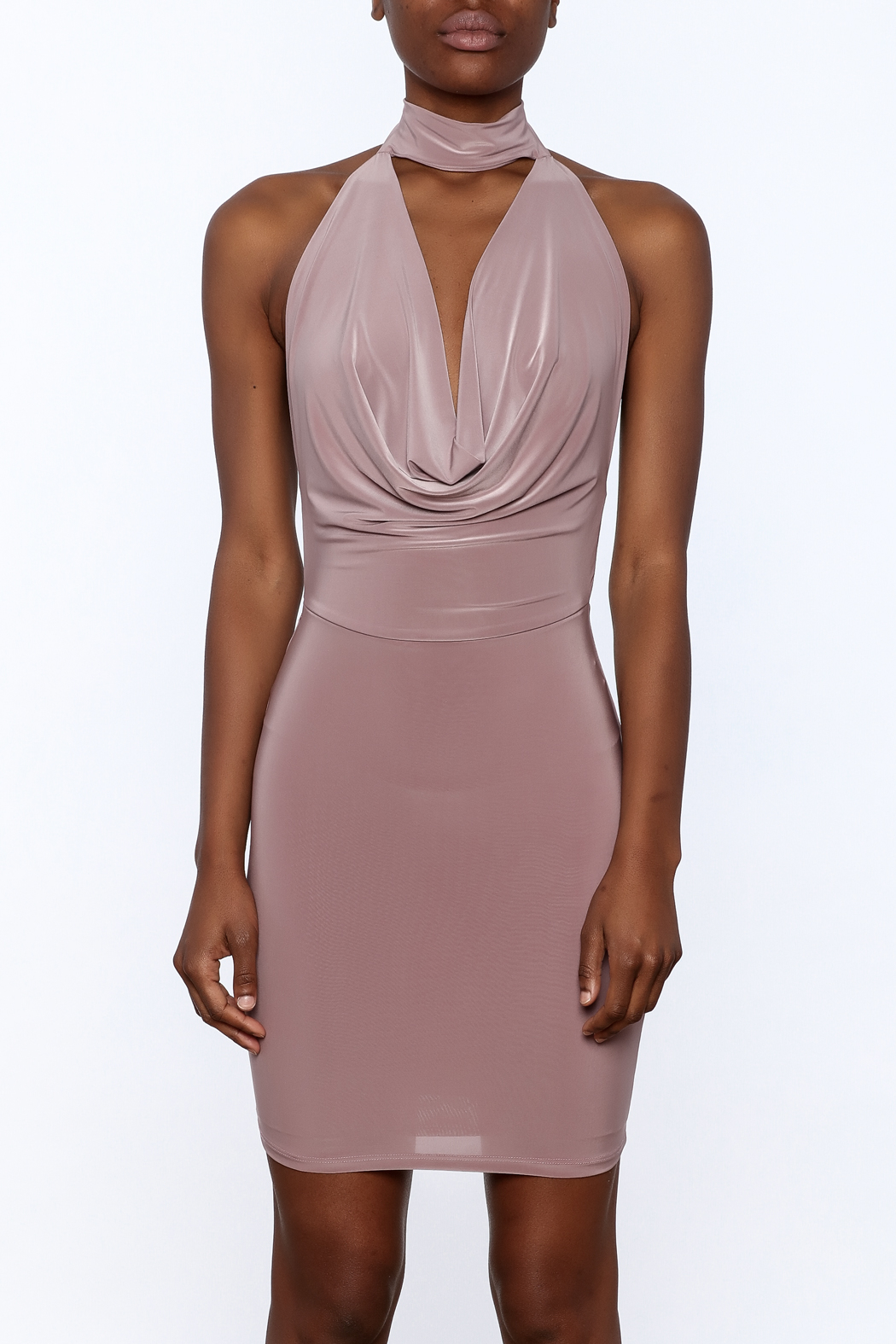 Cefian Mauve Bodycon Dress - Side Cropped Image