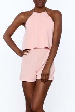 Shoptiques Product: Pink Overlay Romper