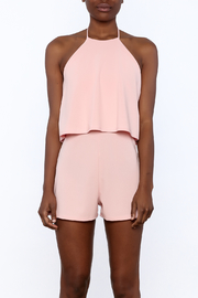 Shoptiques Product: Pink Overlay Romper - Side cropped