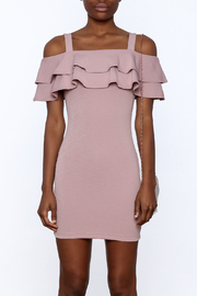 Cefian Ruffle Bodycon Dress - Side cropped