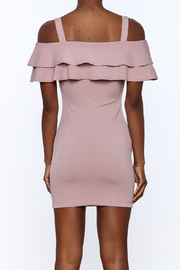 Cefian Ruffle Bodycon Dress - Back cropped
