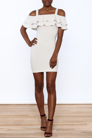 Cefian Ruffle Bodycon Dress - Front full body