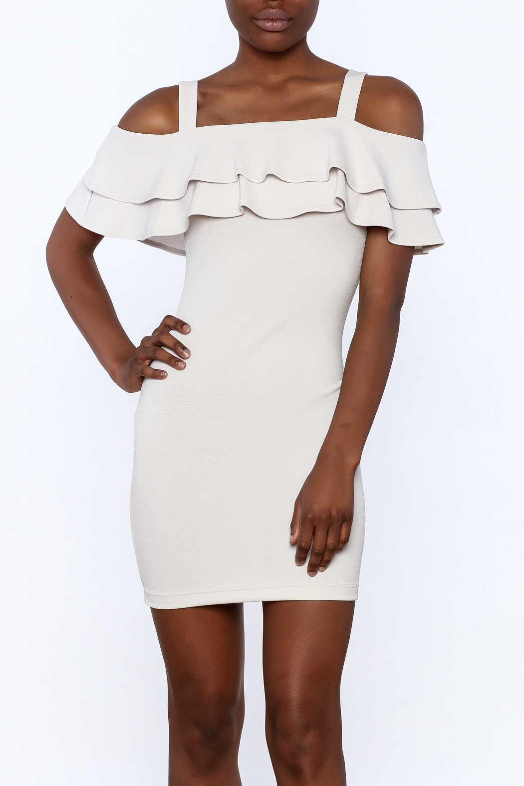 Cefian Ruffle Bodycon Dress - Main Image