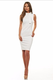 Cefian White Bow Dress - Front cropped