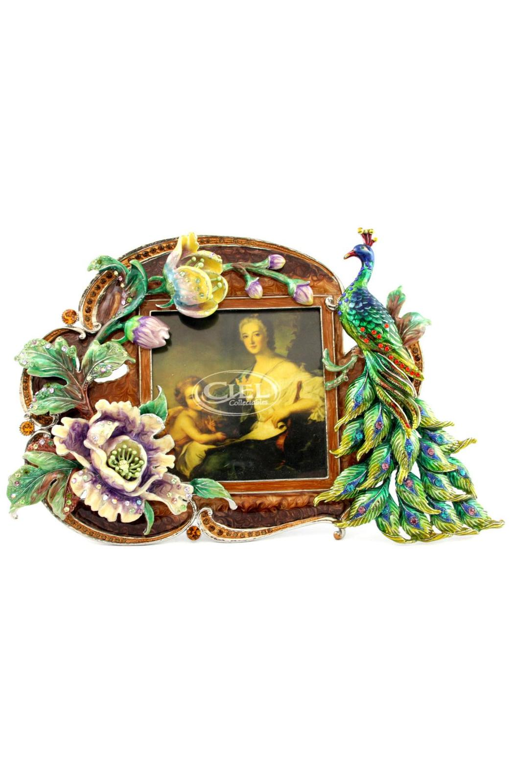 Ceil Collectables Peacock Enamel Frame - Main Image