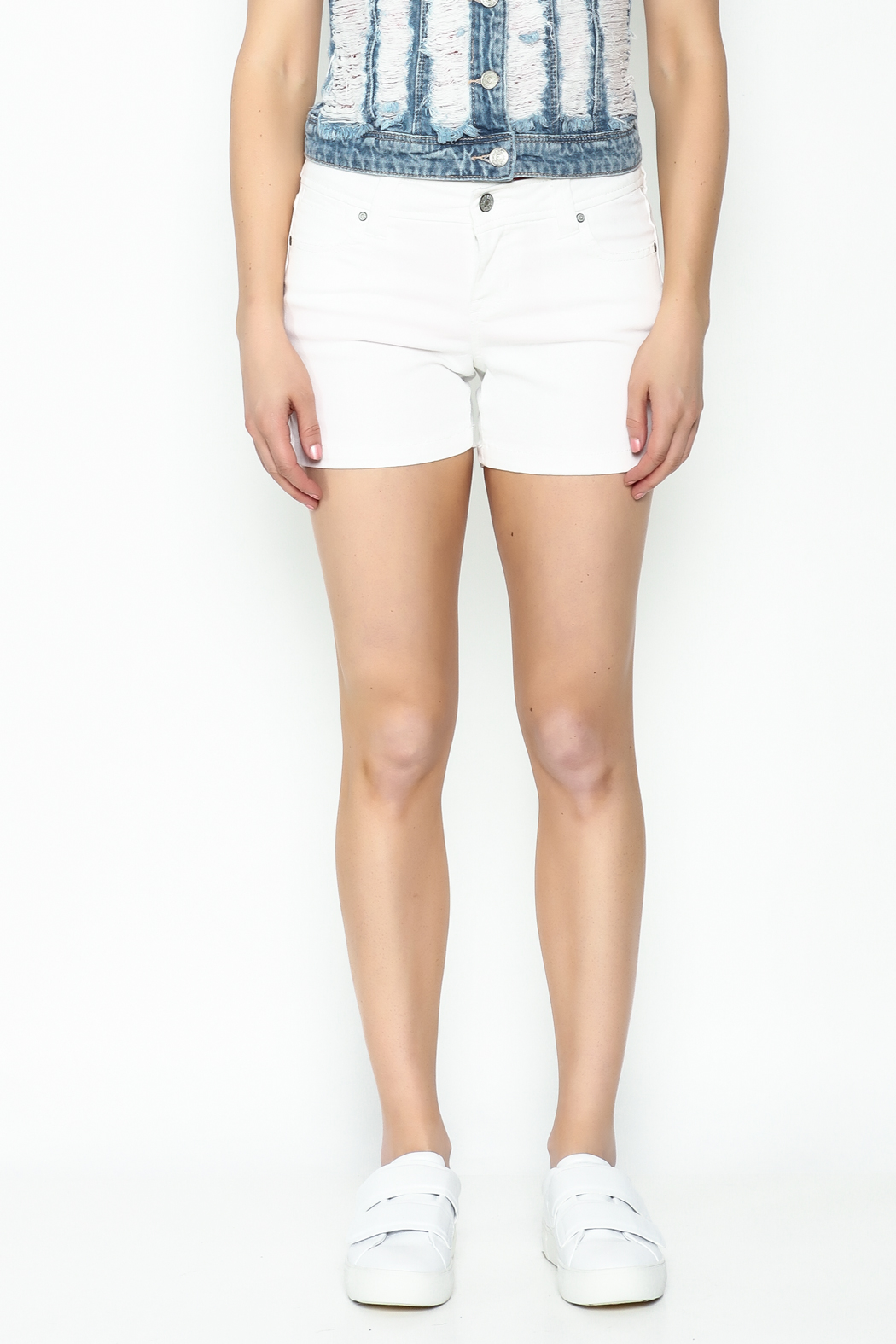 Celeb Couture Mid Rise Shorts - Front Full Image