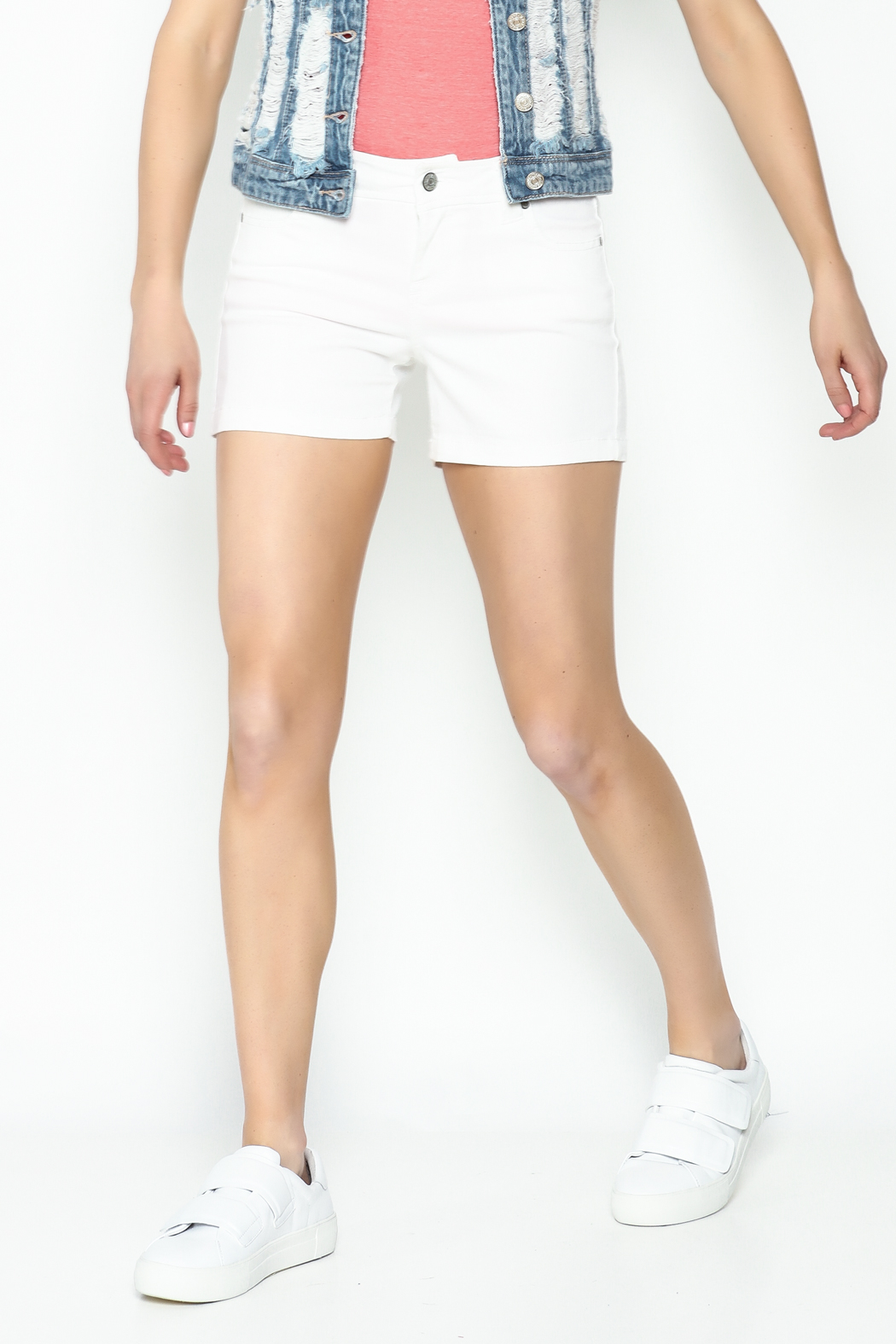 Celeb Couture Mid Rise Shorts - Main Image