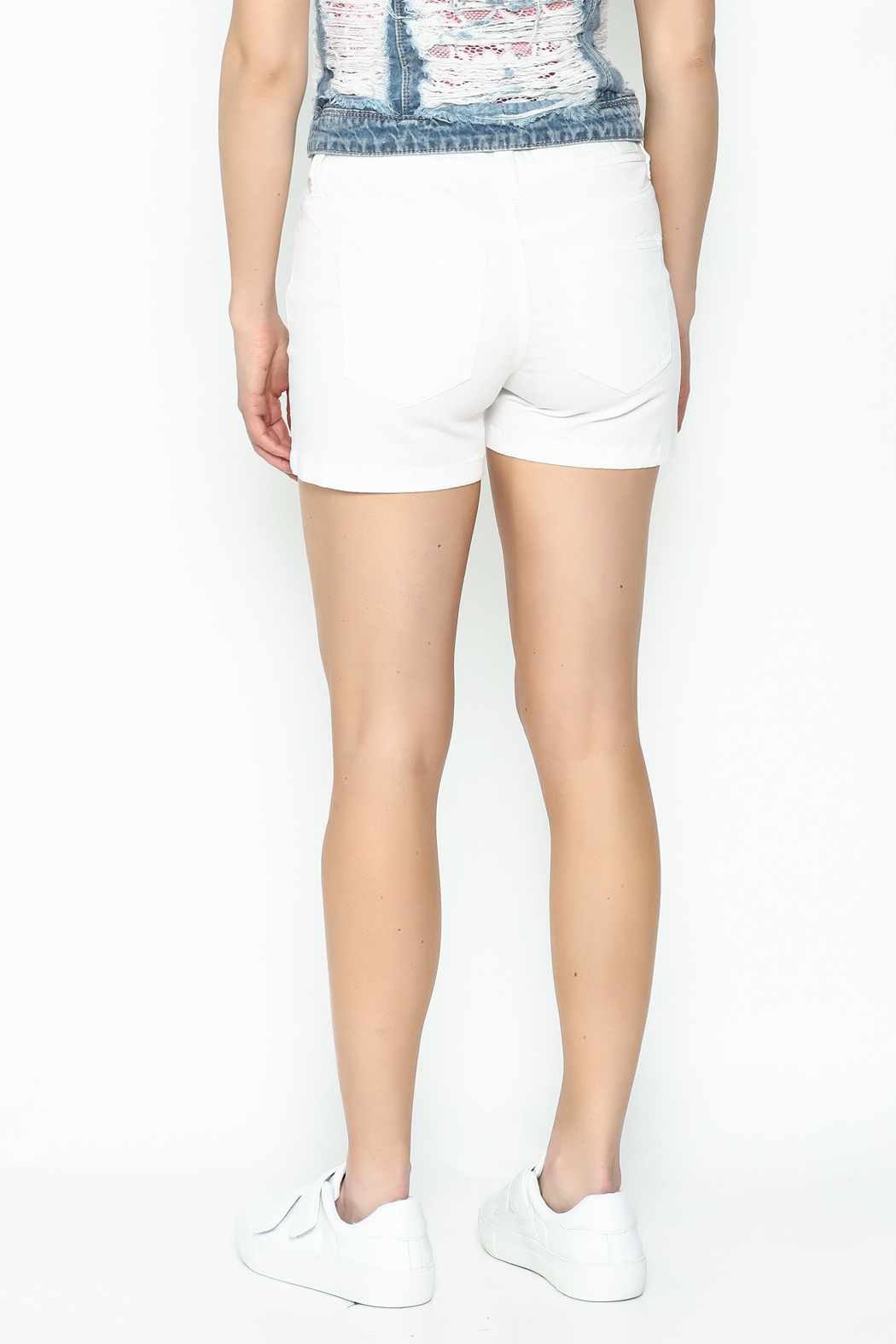 Celeb Couture Mid Rise Shorts - Back Cropped Image