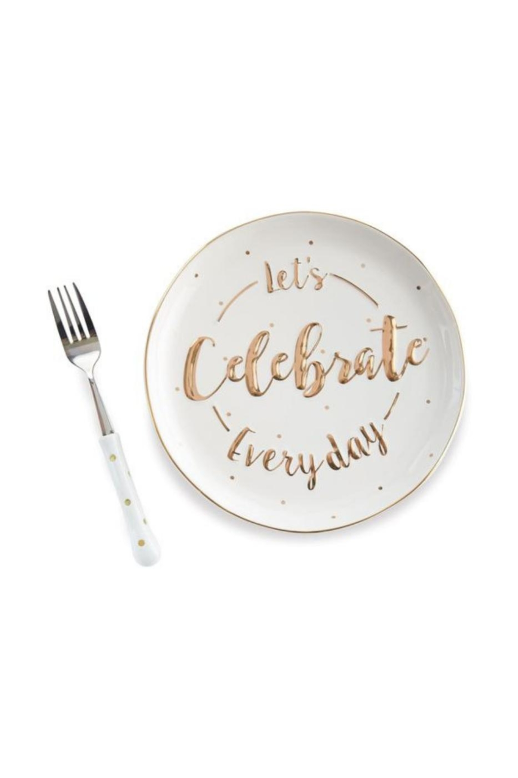 Mud Pie Celebration Cake Plate - Front Cropped Image