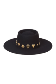 Lack of Color  Celestial Boater Hat - Front full body