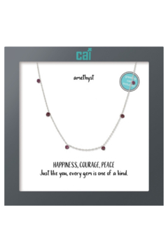 Cool and Interesting Celestial Necklace w Mini Stones - Alternate List Image