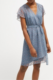 French Connection Celestial Sheer Dress - Front full body