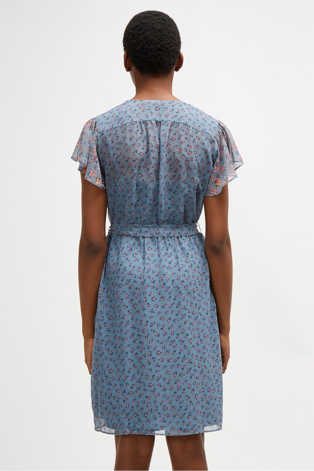 French Connection Celestial Sheer Dress - Back Cropped Image