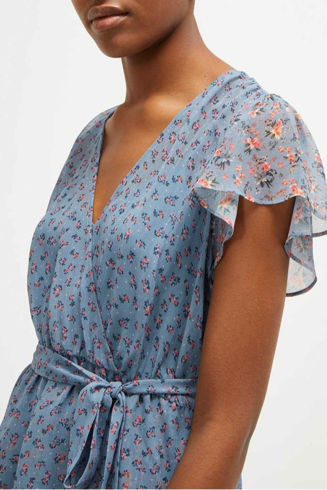 French Connection Celestial Sheer Dress - Side Cropped Image