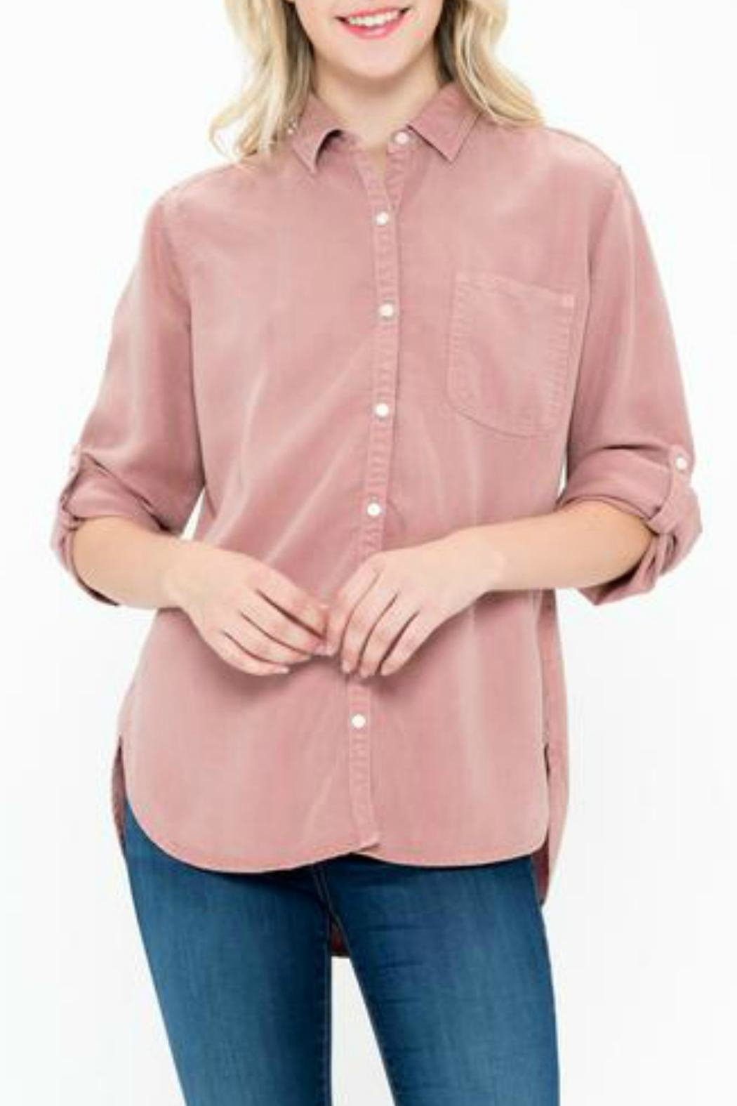 Sneak Peek Celine Button-Up Shirt - Front Cropped Image