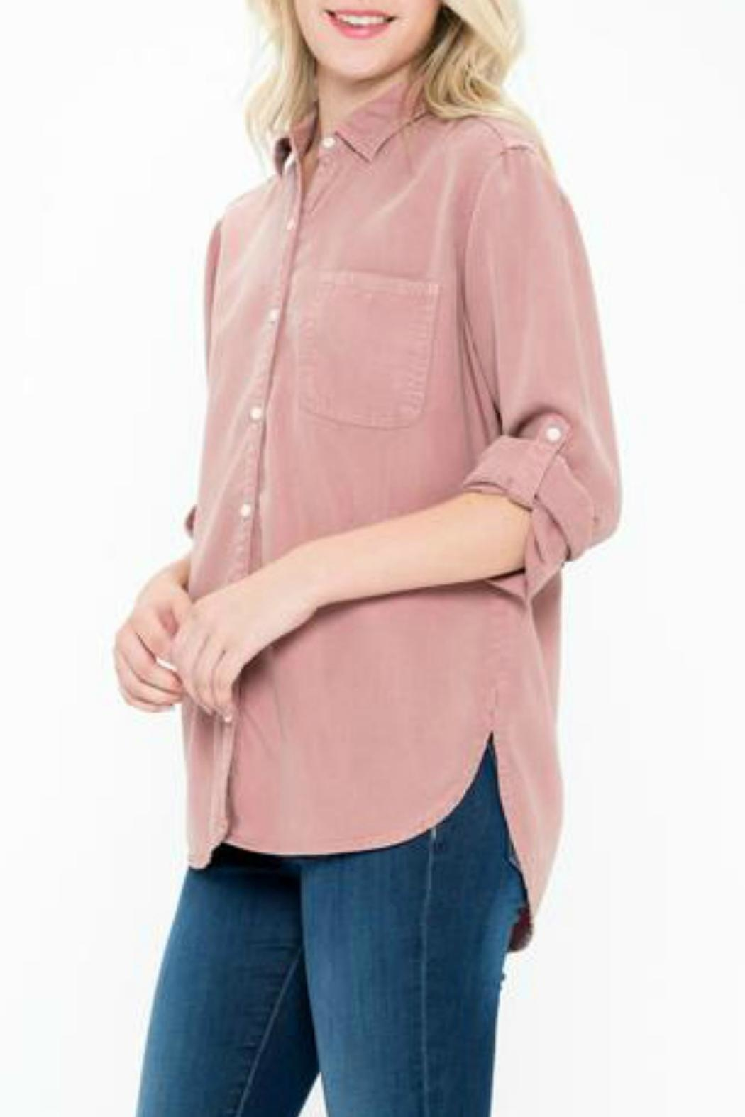 Sneak Peek Celine Button-Up Shirt - Front Full Image