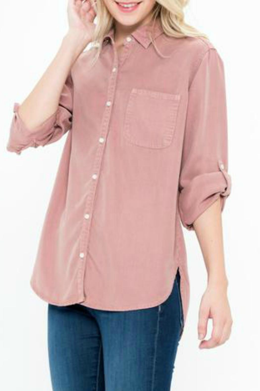 Sneak Peek Celine Button-Up Shirt - Side Cropped Image