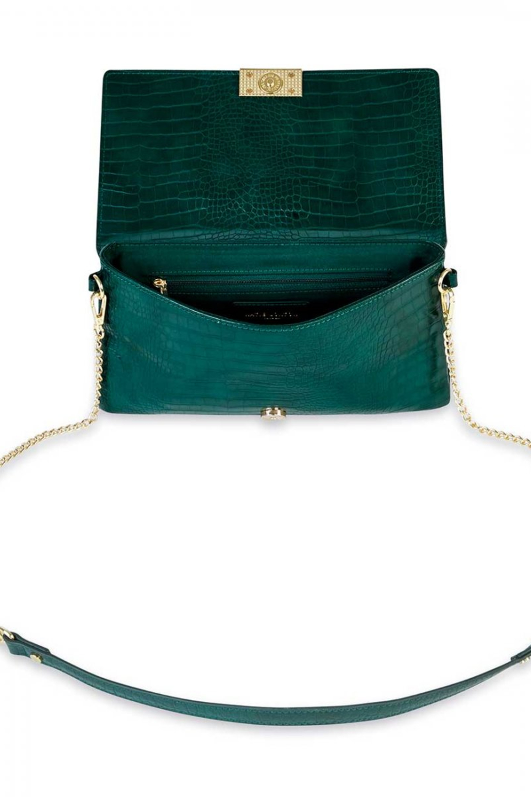 Katie Loxton Celine Faux Croc Fold Over Crossbody - Front Full Image
