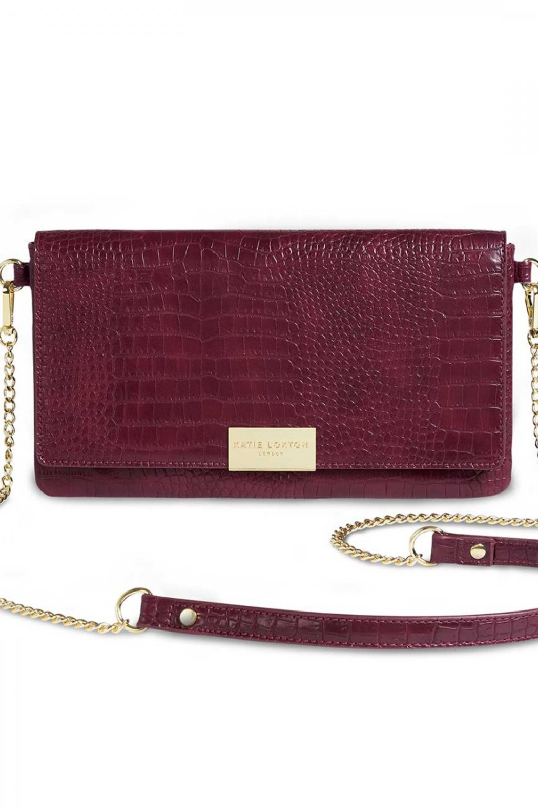 Katie Loxton Celine Faux Croc Fold Over Crossbody - Front Cropped Image