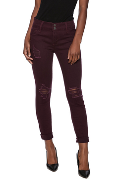 Shoptiques Product: Wine Distressed Jeans