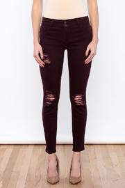 Cello Jeans Colored Distressed Skinny - Side cropped
